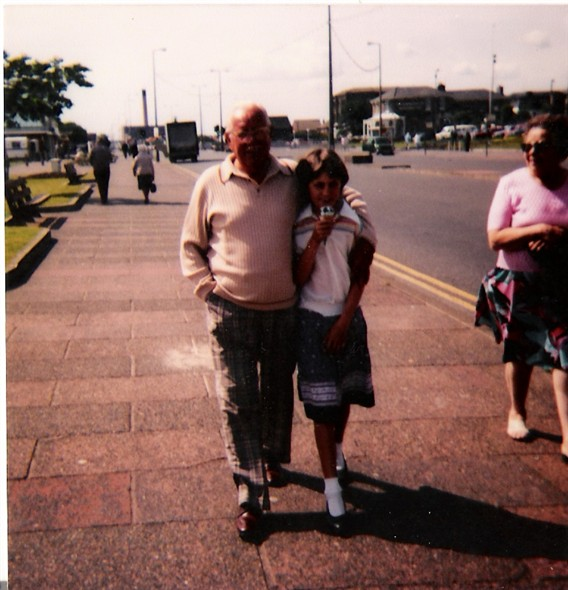 Photo:My Grandad and I (and a mint Cornetto) - Great Yarmouth Seafront 1984