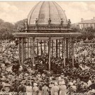 Photo:Postcard showing the Wellington Pier Gardens Bandstand in full swing