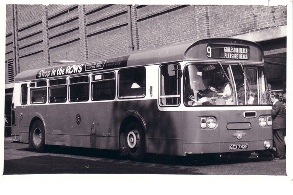 Photo:No 42 (GEX 742F) resting at the Regal bus stand
