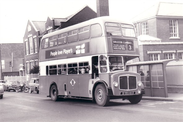 Photo:No 43 (CEX 43) in the Market Place by the Hospital School