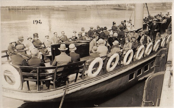 Photo:Passengers on the Yarmouth Belle going on a trip to the broads