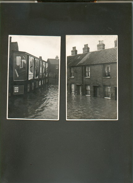 Photo:Photograph of Abyssinia Road,Great Yarmouth during the floods