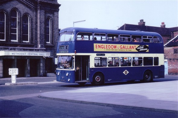 Photo:No ? (CEX ???C) seen here passing the Methodist Central Hall on Alexandra Road en route to Caister-on-Sea